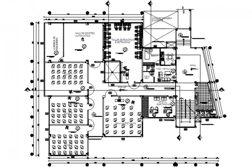 2 d cad drawing of college elevation Auto Cad software