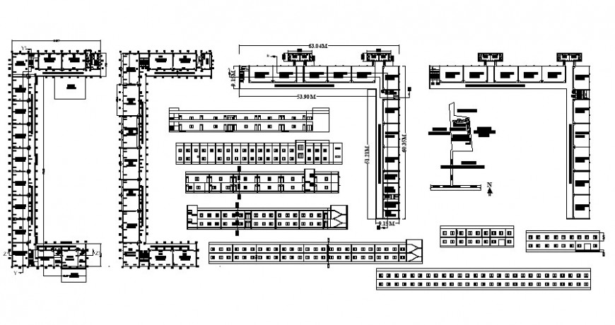 2 d cad drawing of corporation school Auto Cad software
