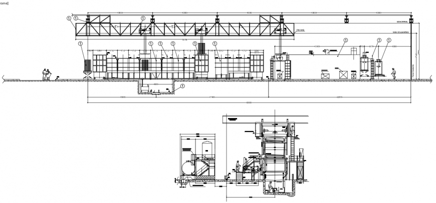 2 d cad drawing of data forces plant auto cad software