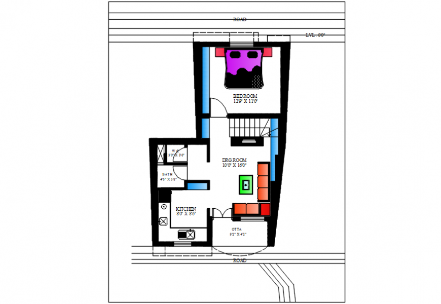 2 d cad drawing of dayabhai house plan AutoCAD software