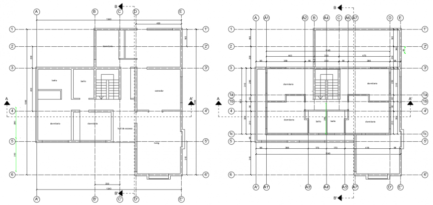 2 d cad drawing of detached house auto cad software