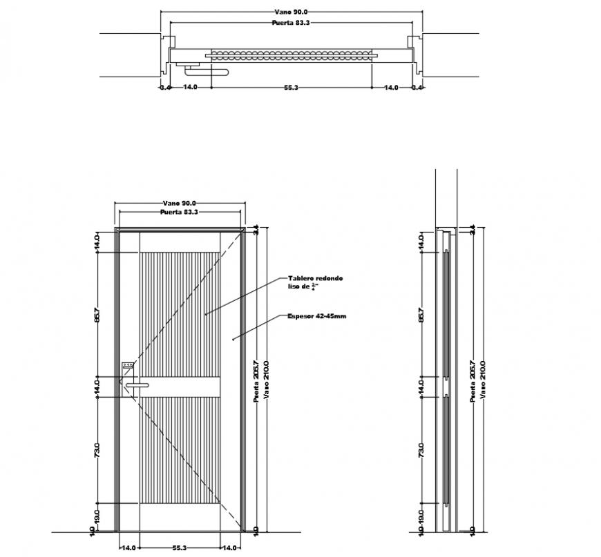 2 d cad drawing of door design auto cad software
