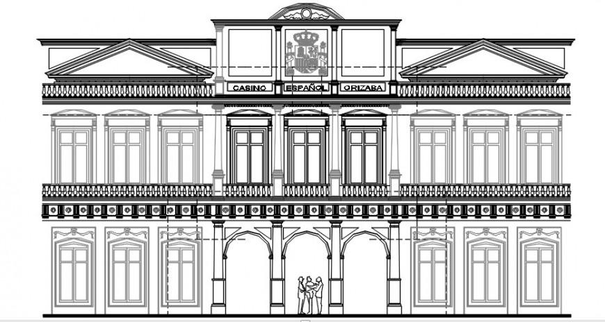 2 d cad drawing of exterior design Auto Cad software