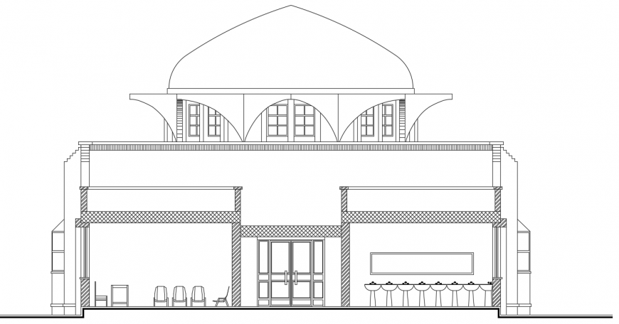 2 d cad drawing of exterior mosque auto cad software