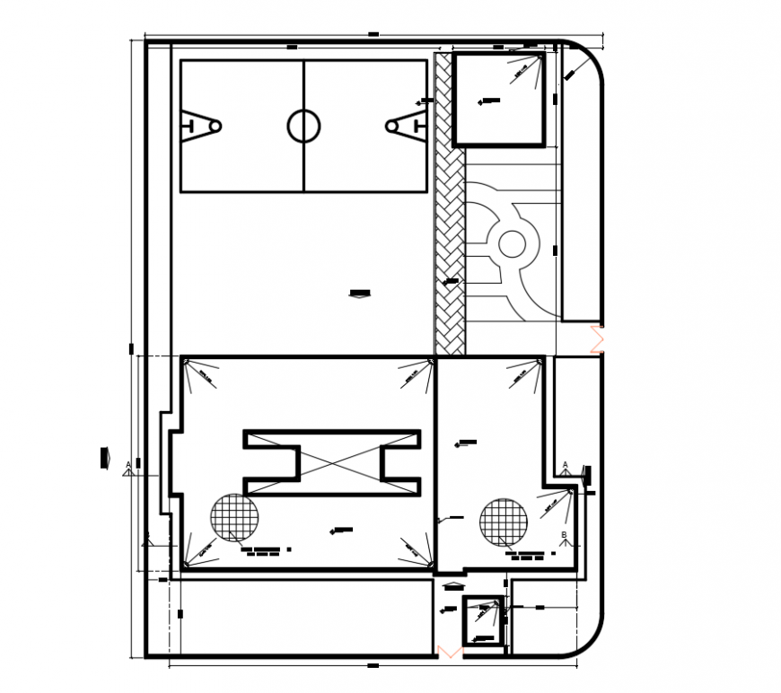 2 d cad drawing of roof and site plan auto cadsoftware