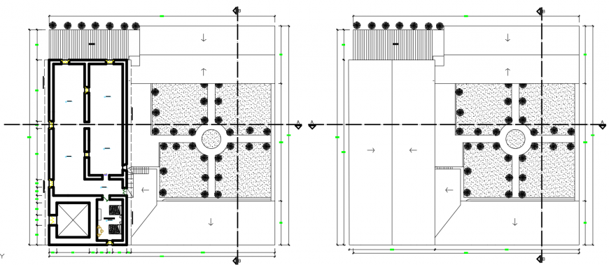 2 d cad drawing of floor level auto cad software