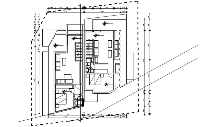 2 d cad drawing of floor level plan living Auto Cad software