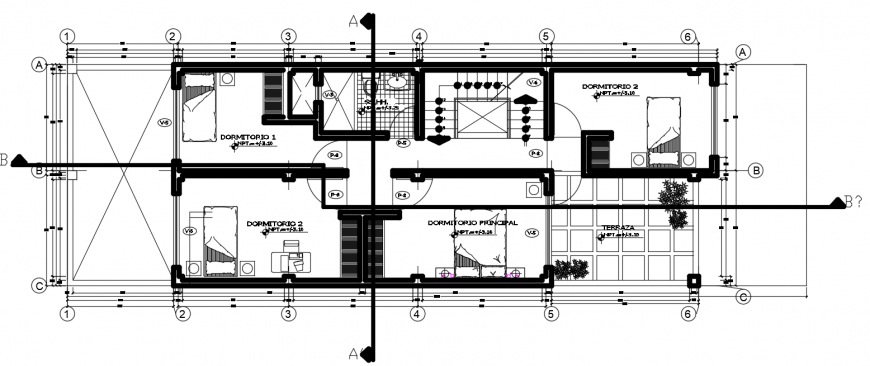 2 d cad drawing of floor one auto cad software