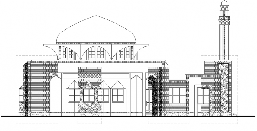 2 d cad drawing of front elevation 3 auto cad software