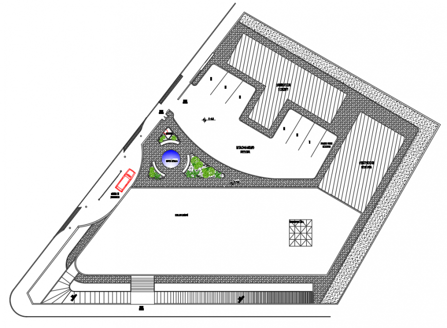 2 d cad drawing of health center auto cad software