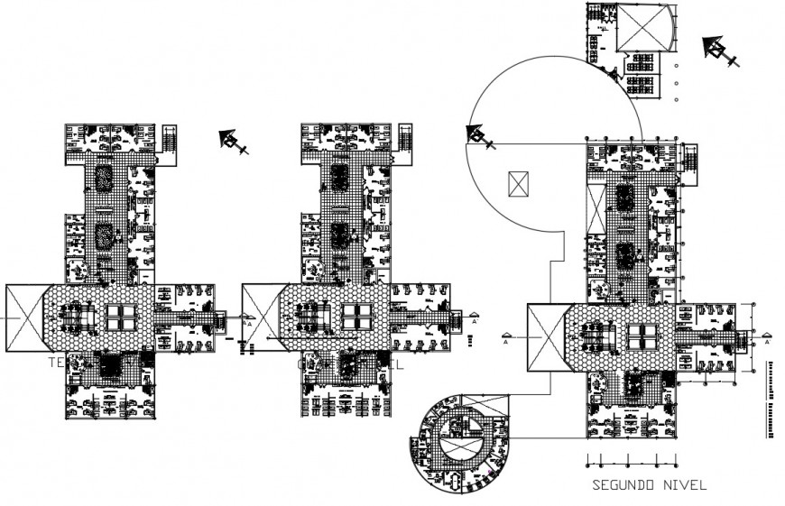 2 d cad drawing of hospital plan drawing  floor auto cad software