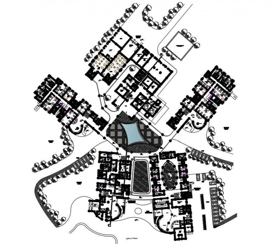 2 d cad drawing of hospital plan floor auto cad software