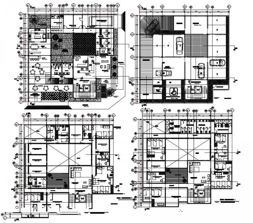 2 d cad drawing of hostel Mexico city floor auto cad software