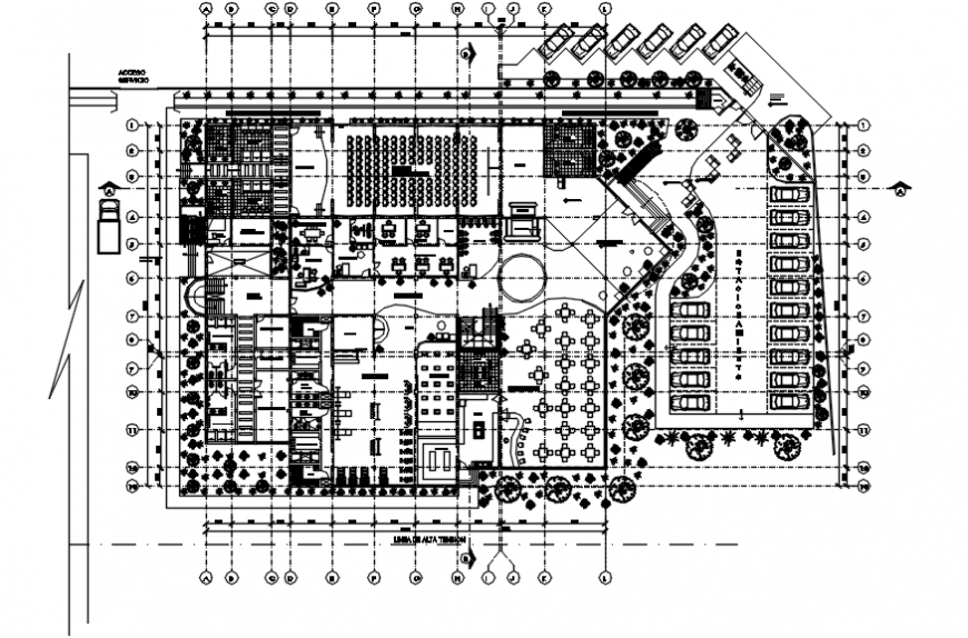 2 d cad drawing of hotel Auto Cad software