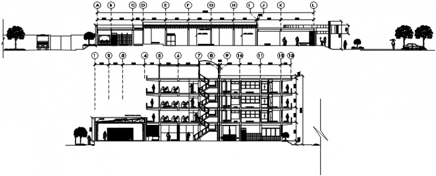2 d cad drawing of hotel building Auto cad software