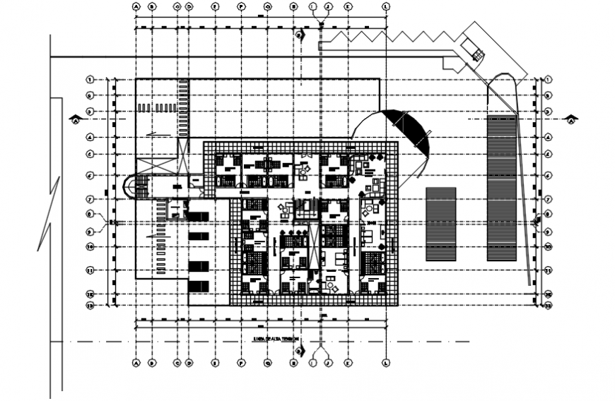 2 d cad drawing of hotel section Auto Cad software