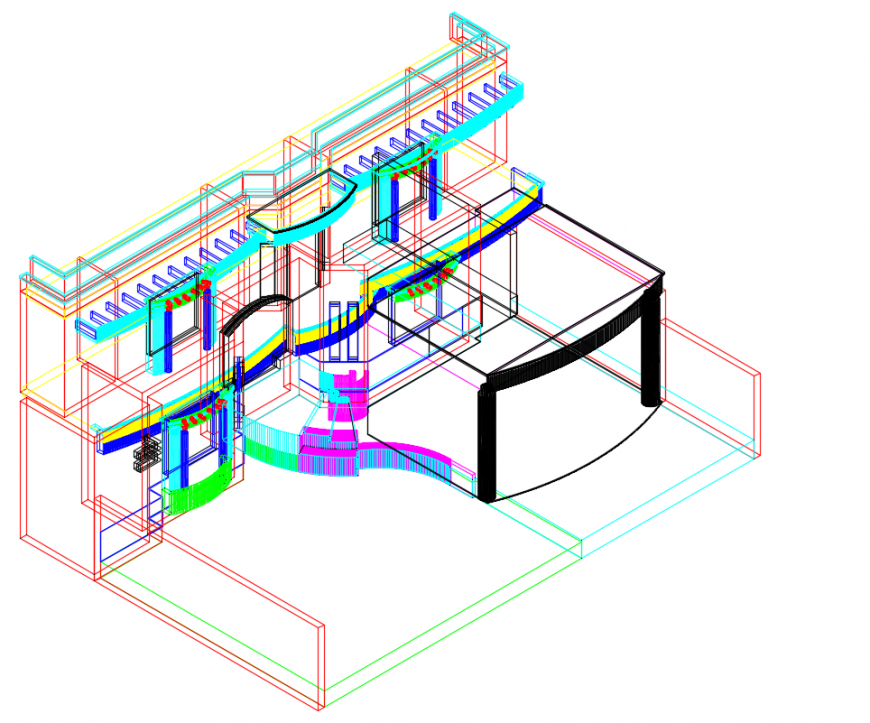 2 d cad drawing of house front auto cad software