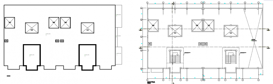 2 d cad drawing of housing building Auto Cad software