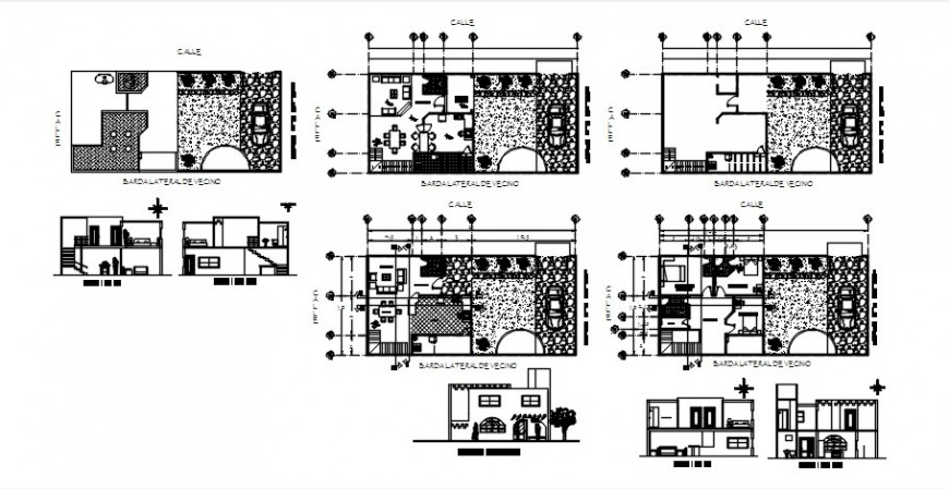 2 d cad drawing of housing plan Auto Cad software