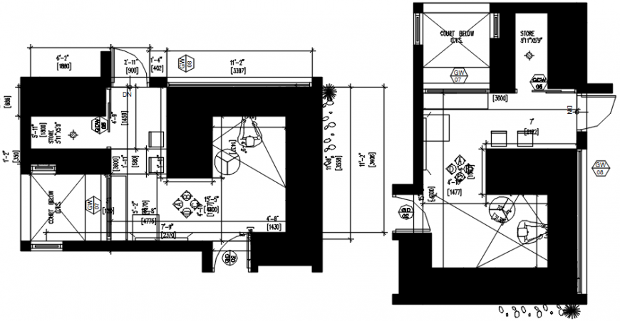 2 d cad drawing of kitchen elevation Auto Cad software