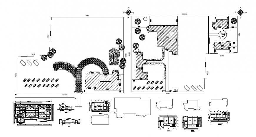 2 d cad drawing of KLM school elevation Auto Cad software