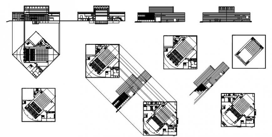 2 d cad drawing of library Auto CAD software