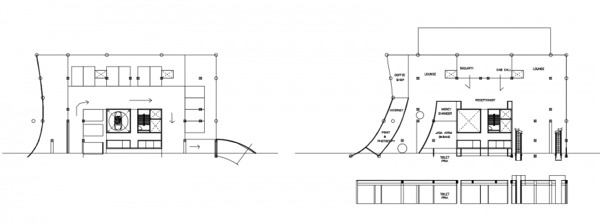 2 d cad drawing of lounge auto cad software