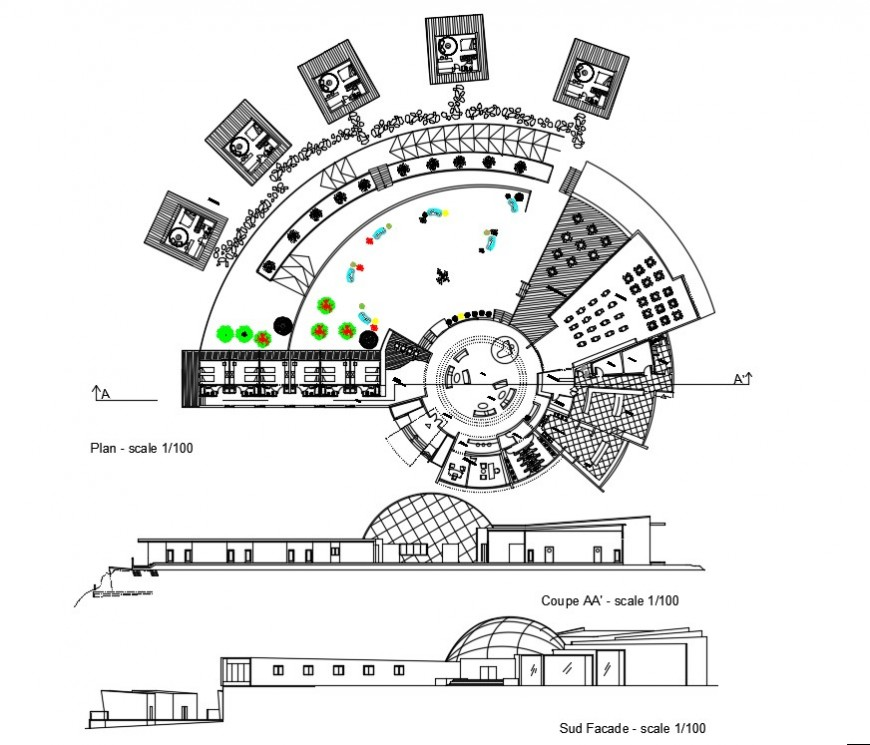 2 d cad drawing of mountain resort auto cad software