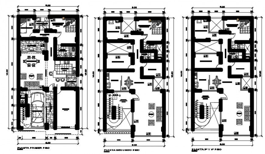 2 d cad drawing of multi-family plan auto cad software