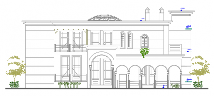 2 d cad drawing of one family housing auto cad software