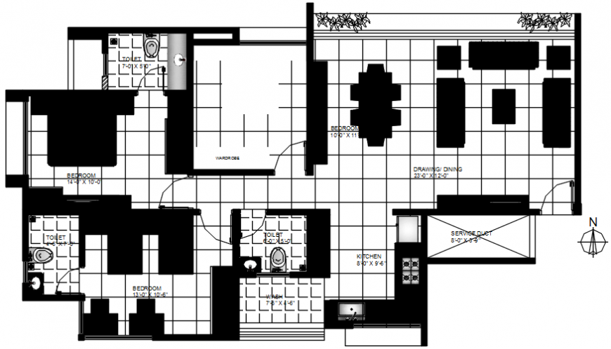 2 d cad drawing of plan 2 auto cad software