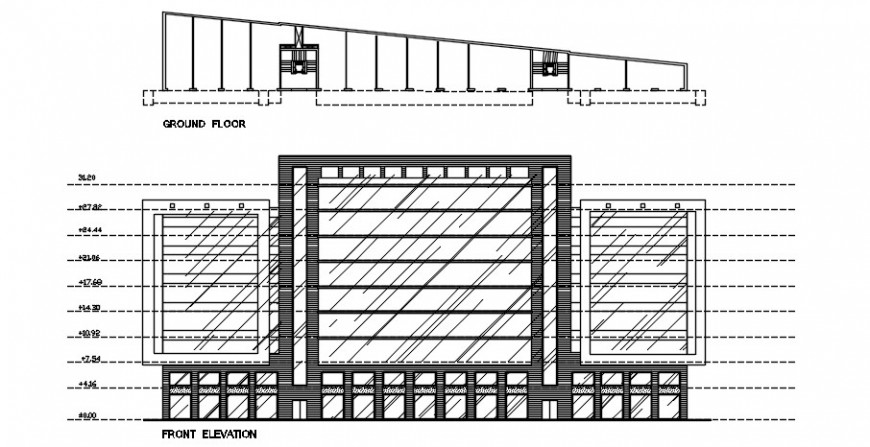 2 d cad drawing of plan and elevation plan auto cad software