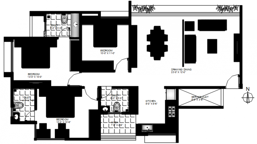 2 d cad drawing of plan furniture hatch layout Auto Cad software