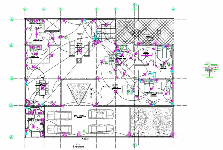 2 d cad drawing of residential plan auto cad software