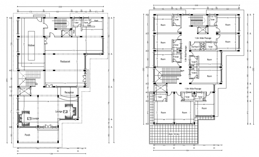 2 d cad drawing of resort auto cad software