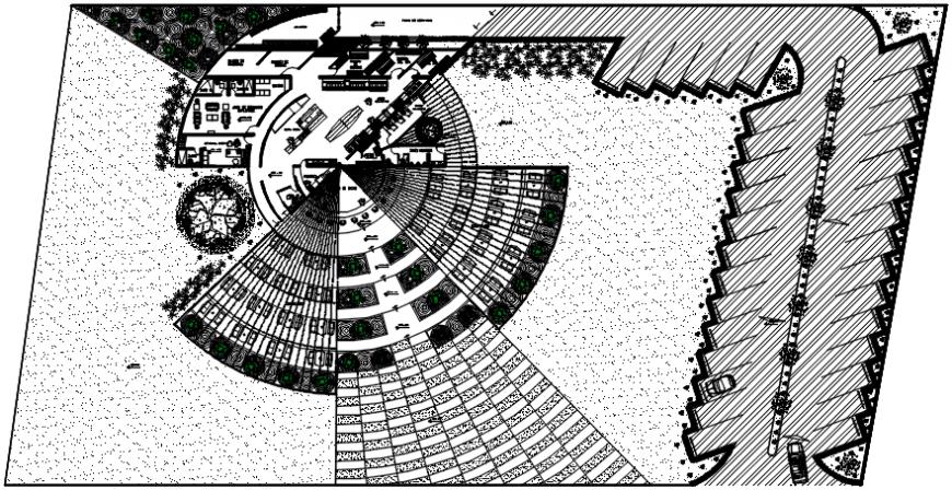 2 d cad drawing of retro restaurant Auto Cad software