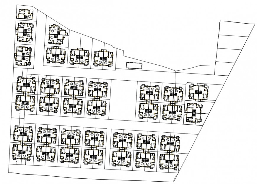 2 d cad drawing of revised floor plan Auto Cad software
