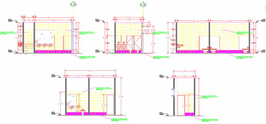 2 d cad drawing of sanitary in toilet elevation auto cad software