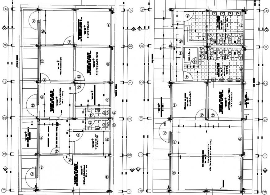 2 d cad drawing of school classroom Auto Cad software