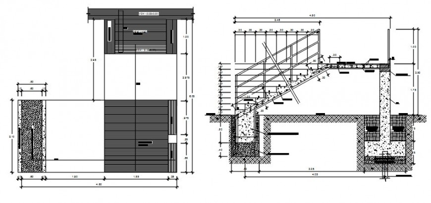 2 d cad drawing of school parking area auto cad software