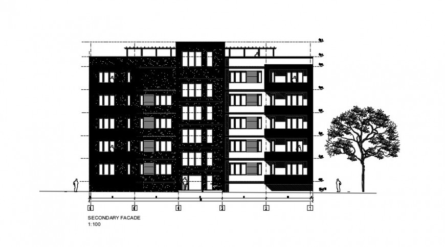 2 d cad drawing of secondary multifamily auto cad software
