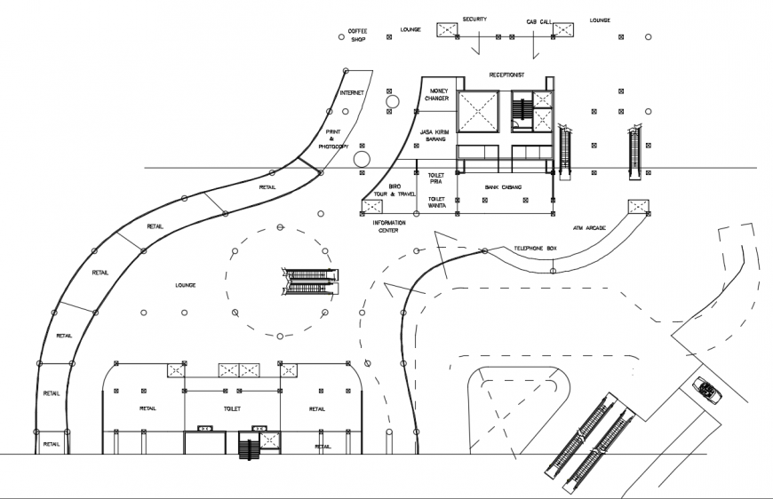 2 d cad drawing of section tower auto cad software