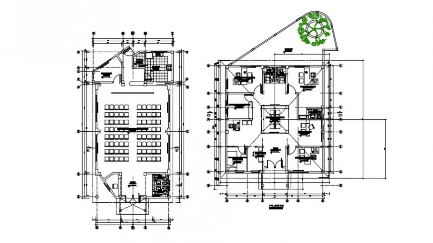 2 d cad drawing of senior citizen auditorium plan auto cad software