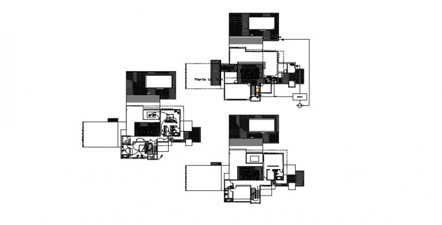 2 d cad drawing of single family plan auto cad software