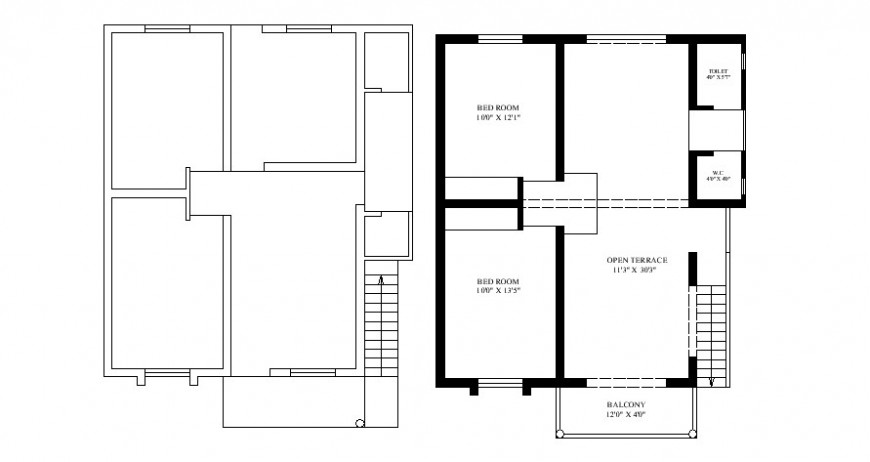2 d cad drawing of some hand bhai house plan Auto Cad software