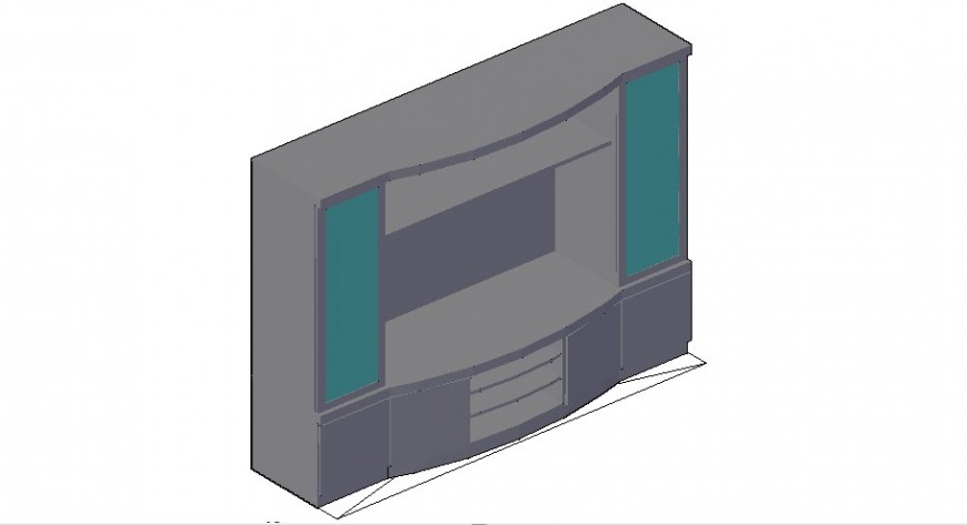2 d cad drawing of television unit Auto Cad software