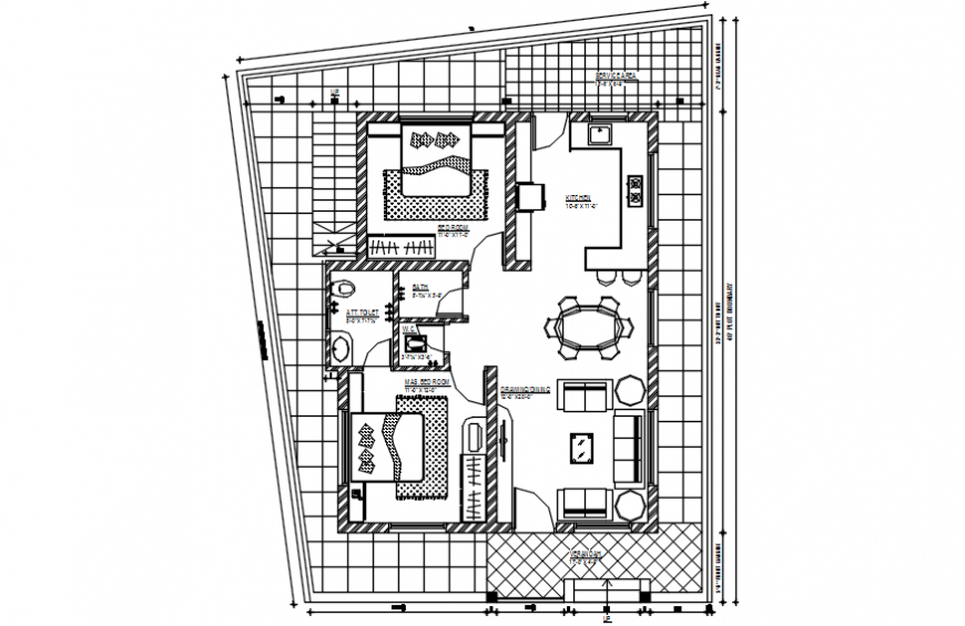 2 d cad drawing of three-floor plan of house drawing Auto Cad software