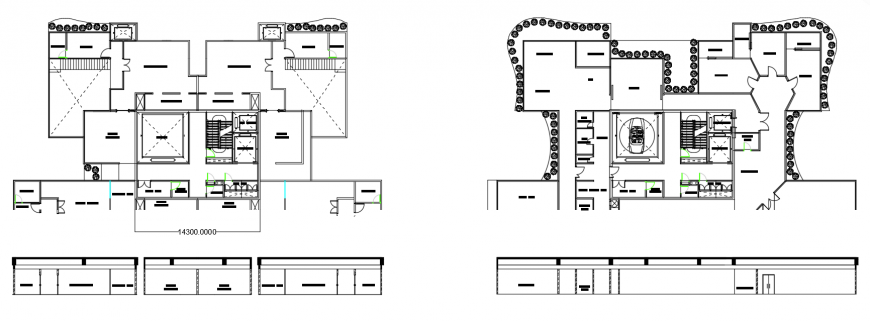 2 d cad drawing of tower plan auto cad software
