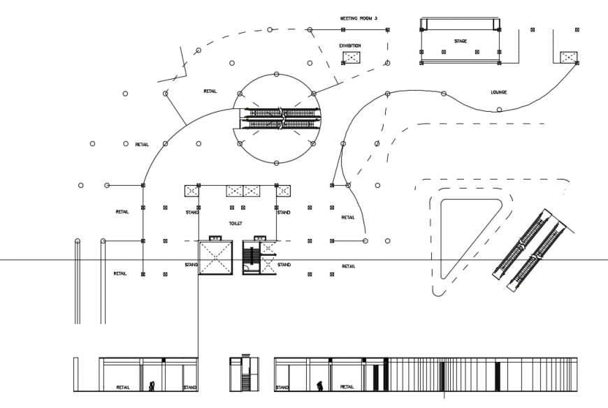 2 d cad drawing of tower point auto cad software
