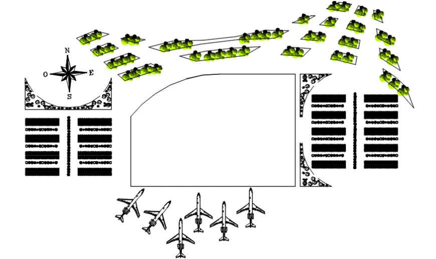 2 d cad drawing of upper floor airport Auto Cad software